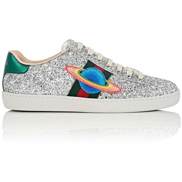 57bf8703239 Gucci Women s New Ace Glitter Sneakers ( 730) ❤ liked on Polyvore featuring  shoes