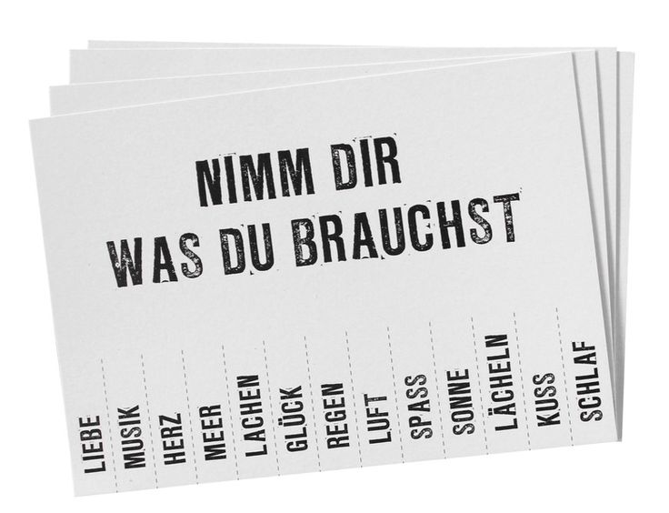 "Postkarte ""NIMM DIR WAS DU BRAUCHST"" // Postcard by SuesseDinge via dawanda.com"