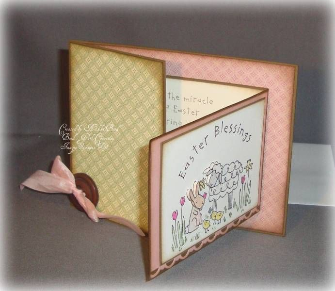 Gate fold Easter inside by scrapaholicbond26 - Cards and Paper Crafts at Splitcoaststampers