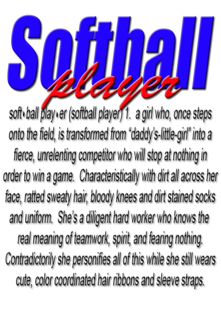 defonition of a softball player <3 -Softball Player Graphics Code | Softball Player Comments & Pictures