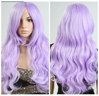 Женщин Лолита Светло-Фиолетовые Волосы Длинные Волнистые Косплей Партии Полный Парик для женщин парики быстрая доставка