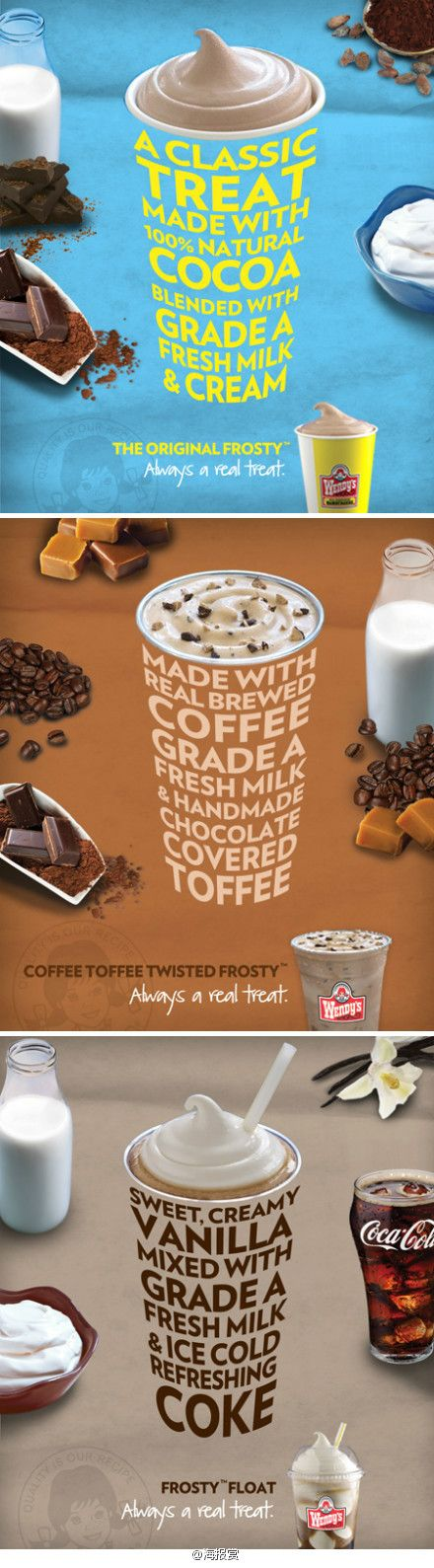 Wendy's Frosty Campaign In-store table decals - Saatchi & Saatchi