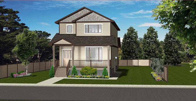 House Plan 2017144 Two Storey Home Plan With Basement Suite By Edesignsplans Ca Front Covered Vera Two Storey House Plans Basement House Plans Storey Homes