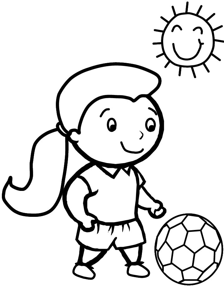 soccer coloring pages for girls - photo#5