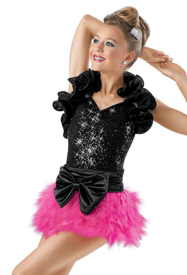 sequin leotard with ruffle shrug weissman costume  dance