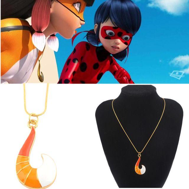 2018 Fox Volpina Alya Pendant Necklace Trixx Kwami Ladybug Anime Cosplay
