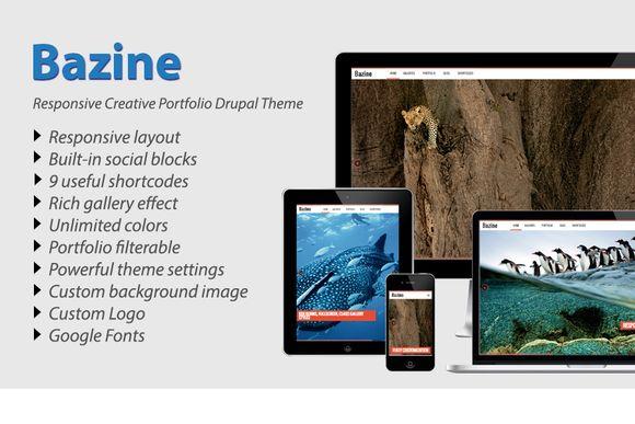 Check out Bazine - Drupal Responsive Portfolio by RutCreate on Creative Market