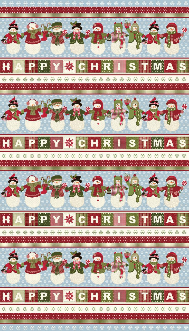 Happy Christmas fabric for Northcott