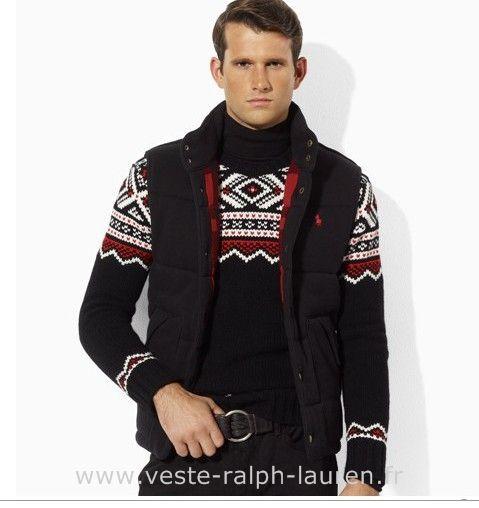 Polo officiel - polo veste hommes mode coreenne slim down pas cher noir Polo Sans Manches
