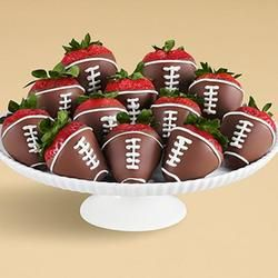 Guy's Guy Gifts for Young Men - Gifts.com Football chocolate stawberries