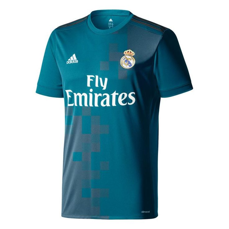 Real Madrid adidas 2017/18 Third Replica Blank Jersey - Teal