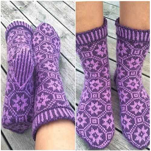 Ravelry: liwes' lilla stjerneull Purple stars