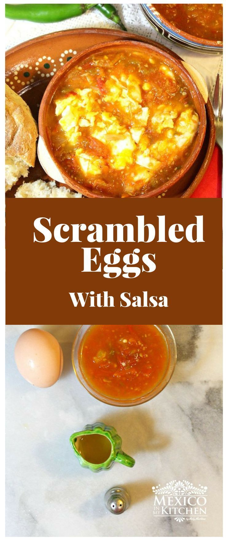 Scrambled Eggs In Salsa Is A Delicious Combination Thats Perfect For Breakfast Or Brunch Authentic Mexican FoodsMexican SpanishBrunch RecipesDinner