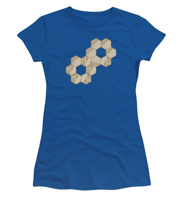 Orange Women's T-Shirt (Junior Cut) featuring the photograph Hexagon Flower And Leaf In Orange by Sverre Andreas Fekjan
