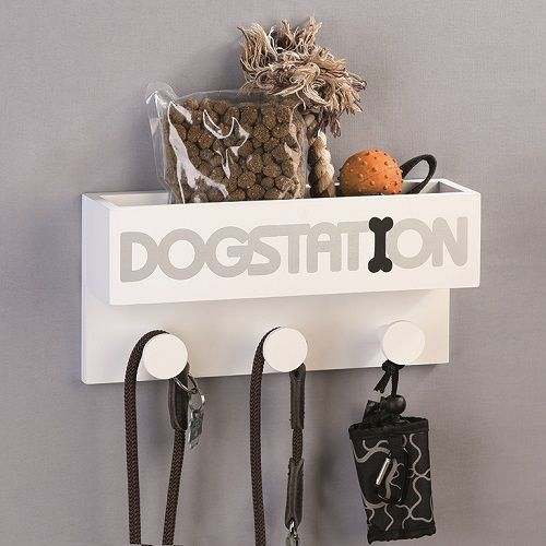 Casablanca Deco Gaderobe Dogstation white MDF white / silver / black 71604
