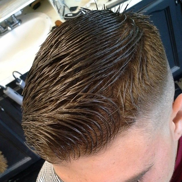 haircuts from the back view well groomed high fade slicked shave 5236