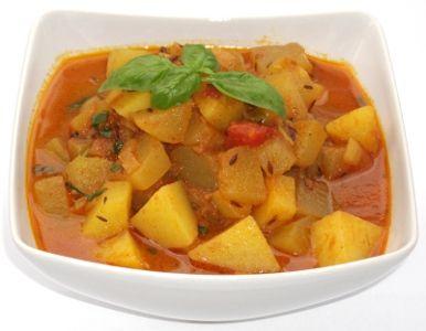 Zucchini Korma - Korma de Dovlecei in sos de Rosii