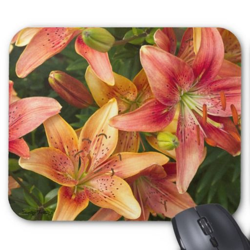 Garden Lilies Mouse Pad