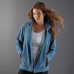Blouson en molleton de polyester Overland pour femme. Personnalisez-le avec votre logo en broderie!