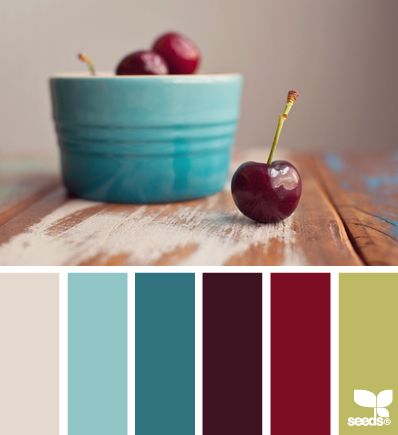 THIS!!! This is the pallet that I want to use for my house! With a another green and an orange added in...