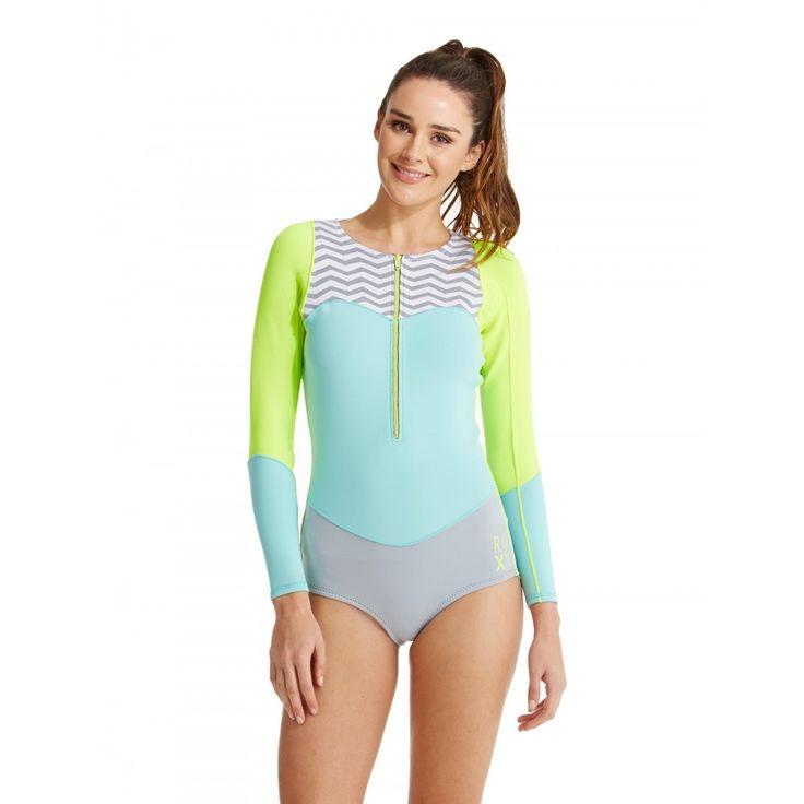 Womens 1mm XY Long Sleeve Bikini Springsuit Wetsuit