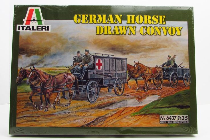 Used Military Vehicles >> WWII German Horse Drawn Convoy New plastic model kit made ...