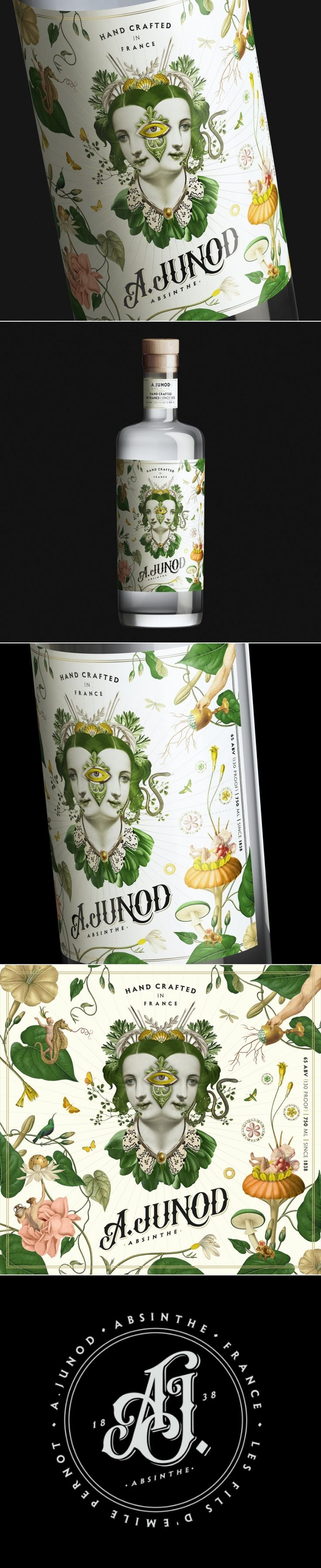This New Absinthe Has a Stunning Collage-Inspired Label — The Dieline | Packaging & Branding Design & Innovation News