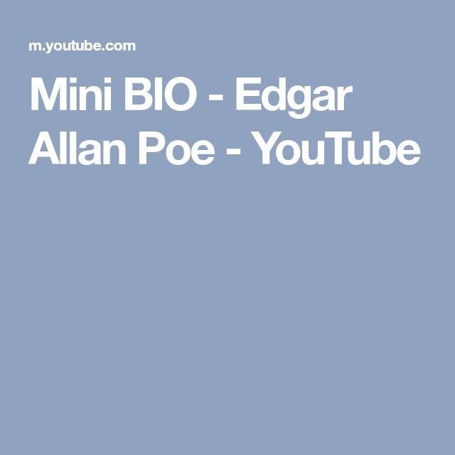 Mini BIO - Edgar Allan Poe - YouTube