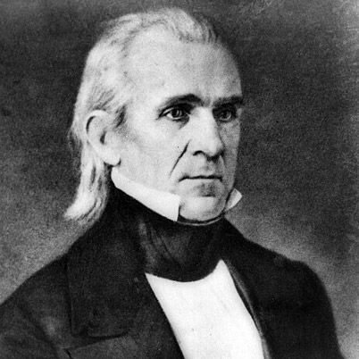 Born in North Carolina in 1795, James K. Polk was the 11th President of the United States. He was a Democrat and led the country during the Mexican War (1846-48). Polk procured vast territories of America's Southwest and Pacific coast regions. He also oversaw the establishment of the U.S. Naval Academy at Annapolis, Maryland, as well as the issue of the first U.S. postage stamp.