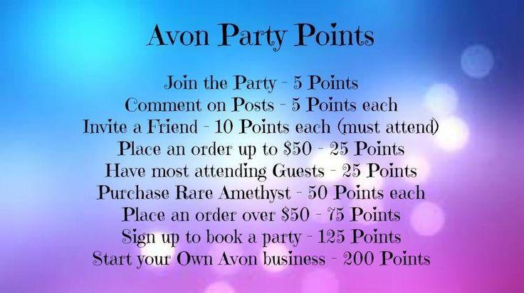 Avon Facebook Party Ideashttps://www.facebook.com/groups/YourAvonLady71