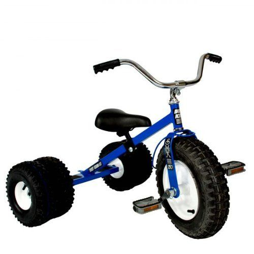 Child's Dually Tricycle Blue by Dirt King. $319.00. The Dirt King Child's Dually Tricycle adds a new look to the off-road ride by adding two additional knobby, deep tread air-filled tires for double the fun. Hand welded and constructed of heavy duty 14 and 16 gauge steel. The Dirt King Child's Dually Tricycle comes equipped with all terrain dual pneumatic tires mounted on heavy duty steel rims with 5/8 inch steel ballbearings. The adjustable seat and tilting handle-bars allow...