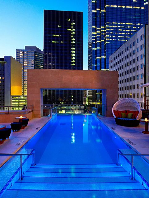 92 best inspired pools images on pinterest arquitetura for Hotels in dallas tx with indoor pool