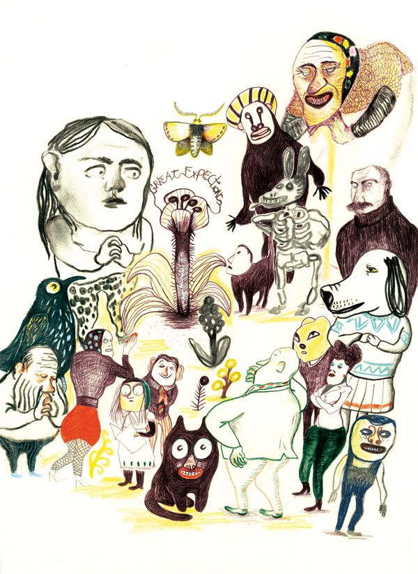 """Kitty Crowther"""" dessin pour le morgen"""""""