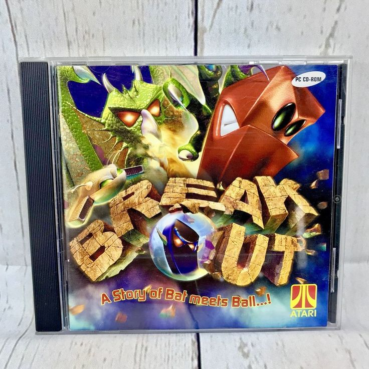 Atari Breakout PC CD Rom Computer Game Vintage COMPLETE VGC break out arcade
