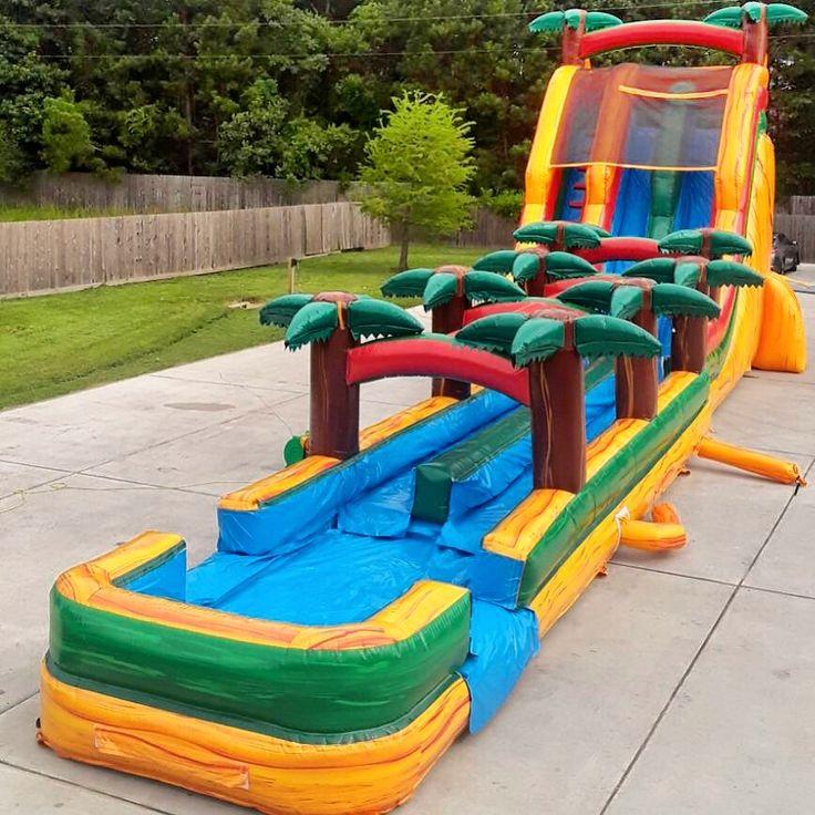 Aloha 60ft water slide party rentals equipment water