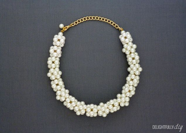 DIY J.Crew Inspired Pearl Necklace