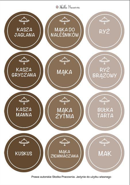 Etykiety na pojemniki - szablon - Słodka Pracownia - Przepisy | Dekoracje | Przyjęcia