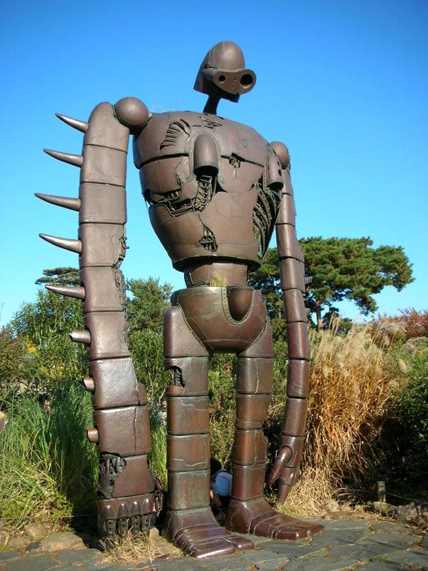 If you love Miyazaki's animes, then you'll love the fact that the gigantic robot from Laputa: Castle in the Sky can be seen in Tokyo, at the Ghibli Museum