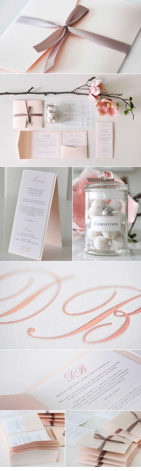 Hochzeitseinladung Black & White