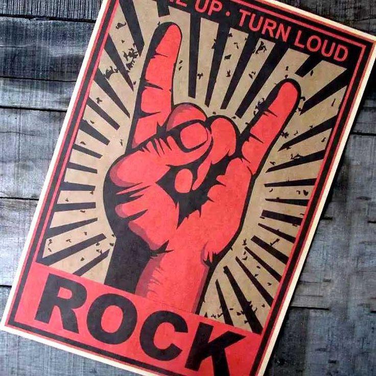 Gros et de détail, Movie poster continuer à rock! Métal cadeau nostalgique classique rock gestes kraft papier, Affiche vintage dans Peinture et calligraphie de Maison & Jardin sur AliExpress.com   Alibaba Group