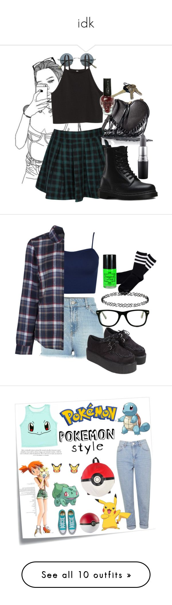"""idk"" by tilly-lorena ❤ liked on Polyvore featuring Dr. Martens, Rebecca Minkoff, MAC Cosmetics, WearAll, Brakeburn, Muse, Dorothy Perkins, Post-It, Topshop and York Wallcoverings"