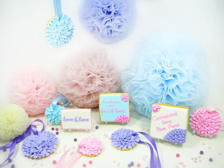 Pom Pons from love&love and pom pons cookies