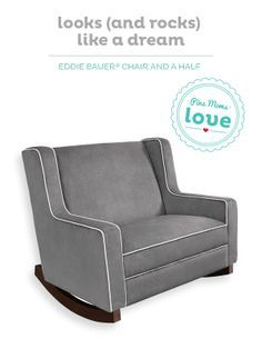 The Eddie Bauer Chair and a Half rocker is a comfy addition to any nursery.
