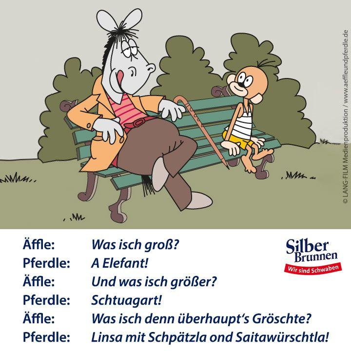 Silberbrunnen Affle Pferdle Downloads Schwabische Spruche Lustige Cartoons Mainzelmannchen