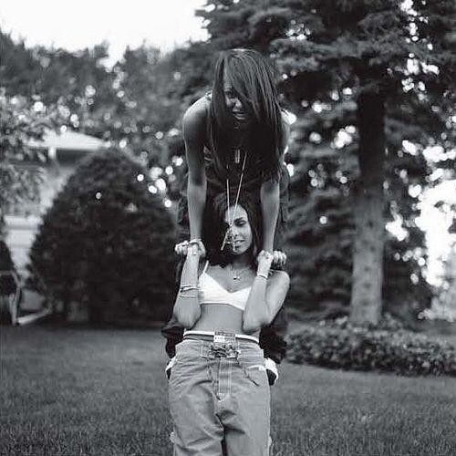 Aaliyah and Kidada TBT