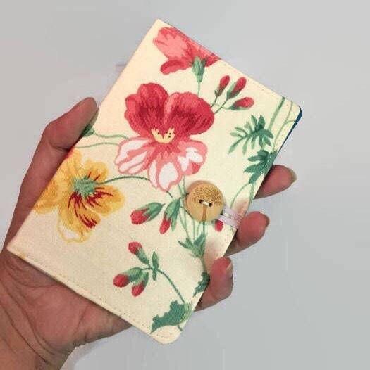 Mini Credit Card Holder Card Holder Red Floral Card Holder