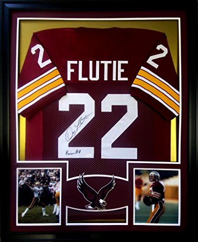 doug flutie framed jersey signed jsa authenticated autographed boston college bc mister mancave http