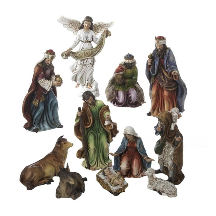 nativity sets for sale | ... in. Resin Nativity Set of 11 Pieces - Nativity Sets at Hayneedle