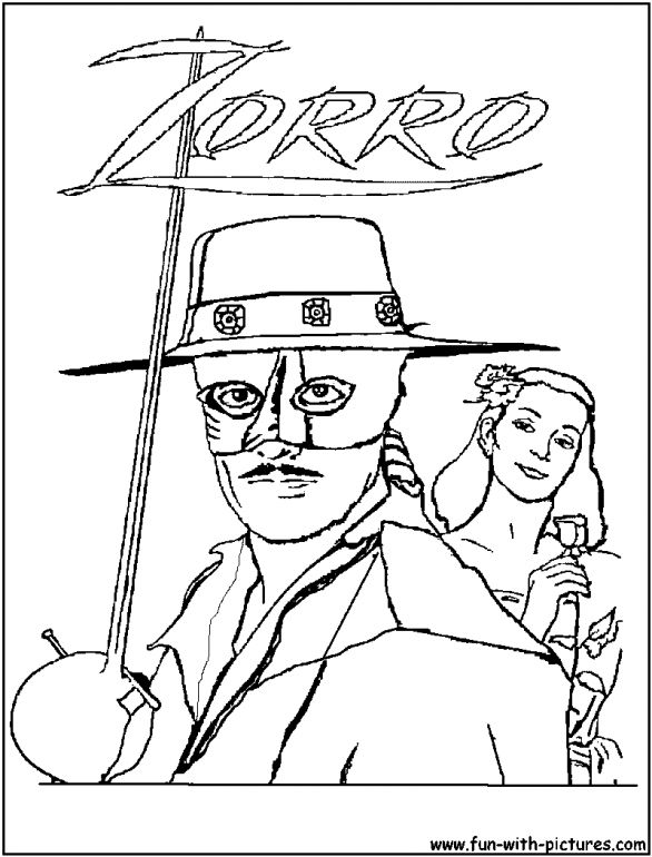 zorro coloring pages