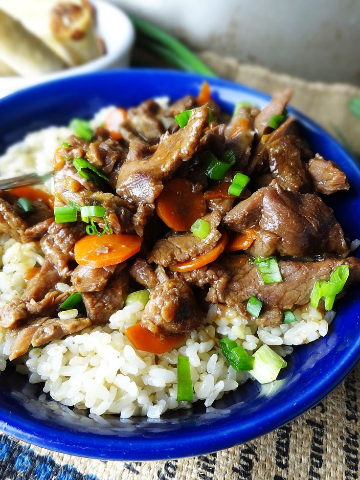 Slow Cooker Mongolian Beef recipe from The Cheerful Kitchen. This easy ...